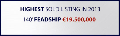 Highest sold yacht listing